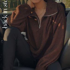 Cozy Half Zip Up Sweater